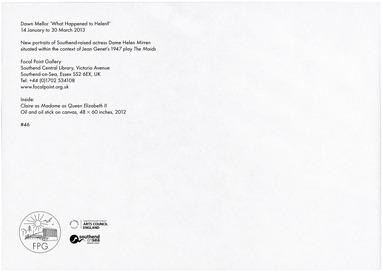 Fraser Muggeridge studio: Dawn Mellor - What Happened to Helen?, Focal Point Gallery 2013