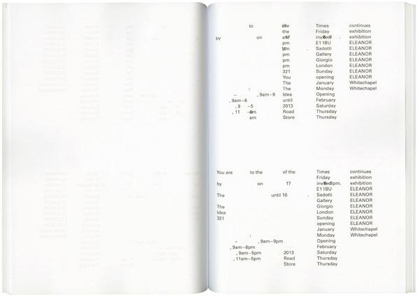 Fraser Muggeridge studio: Giorgio Sadotti - ELEANOR ELEANOR ELEANOR ELEANOR ELEANOR ELEANOR ELEANOR, 2013