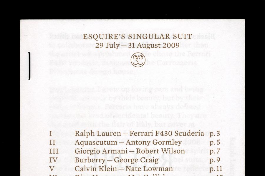 Esquire's Singular Suit - OK-RM