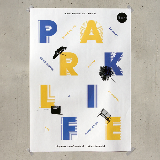 poster for the concert - Round & Round vol. 7: Parklife - Jaemin Lee