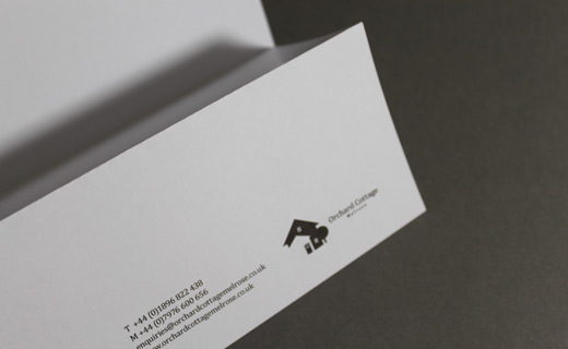 Orchard Cottage, Melrose. Logo, Stationery, Photography | Definitive Studio® | Graphic Design & Communication - Scottish Borders