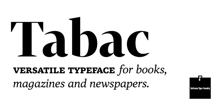 Tabac - Desktop font « MyFonts