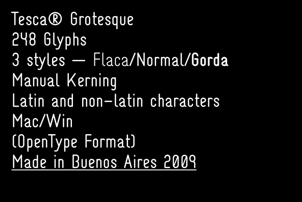 Fonts - Tesca Grotesque by Nicolas Massi - YouWorkForThem