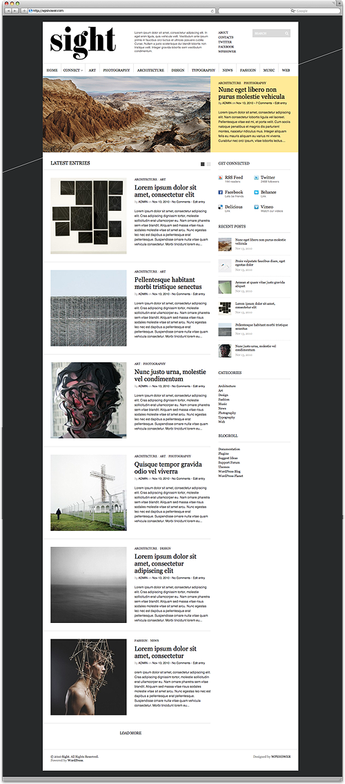 WPSHOWER - Free wordpress themes