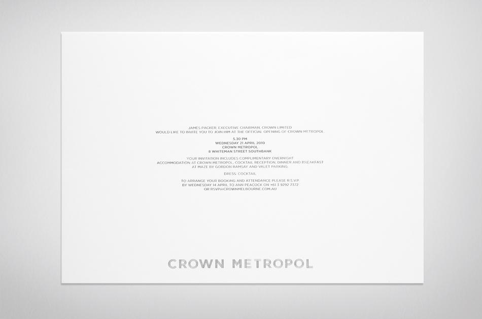 Fabio Ongarato Design | Crown Metropol