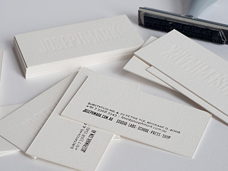 The hungry workshop white on white letterpress business cards the hungry workshop white on white letterpress business cards reheart Images