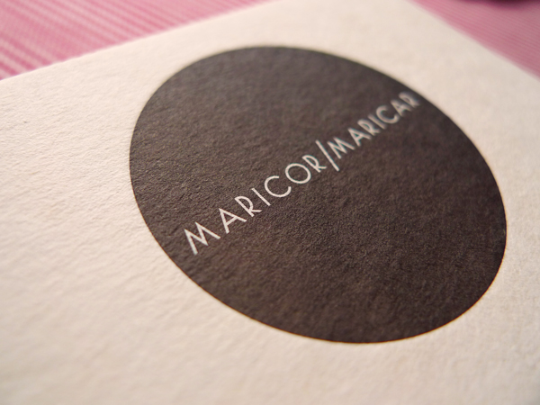 The Hungry Workshop | Maricor/Maricar letterpress business cards