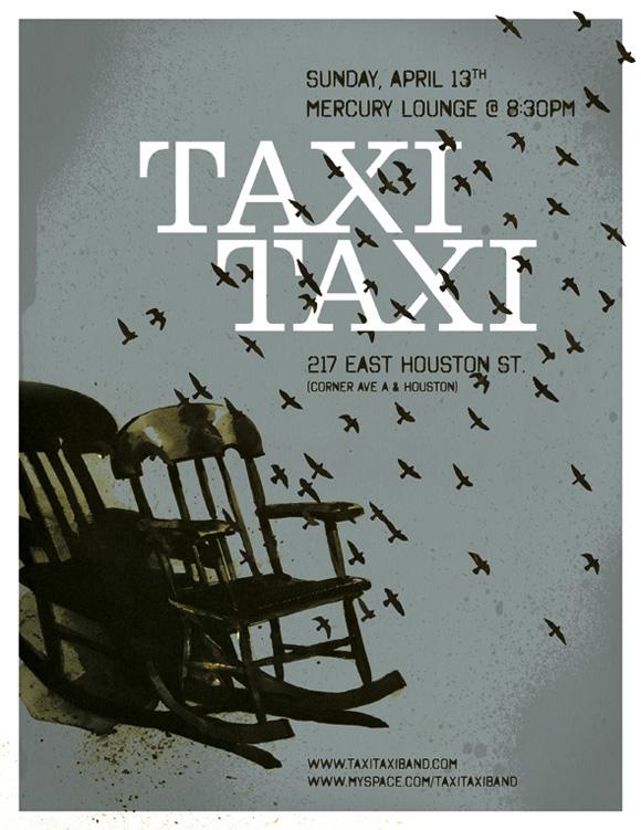 Taxi Taxi Gig Poster – Ed Nacional / Graphic Designer / Brooklyn, NY