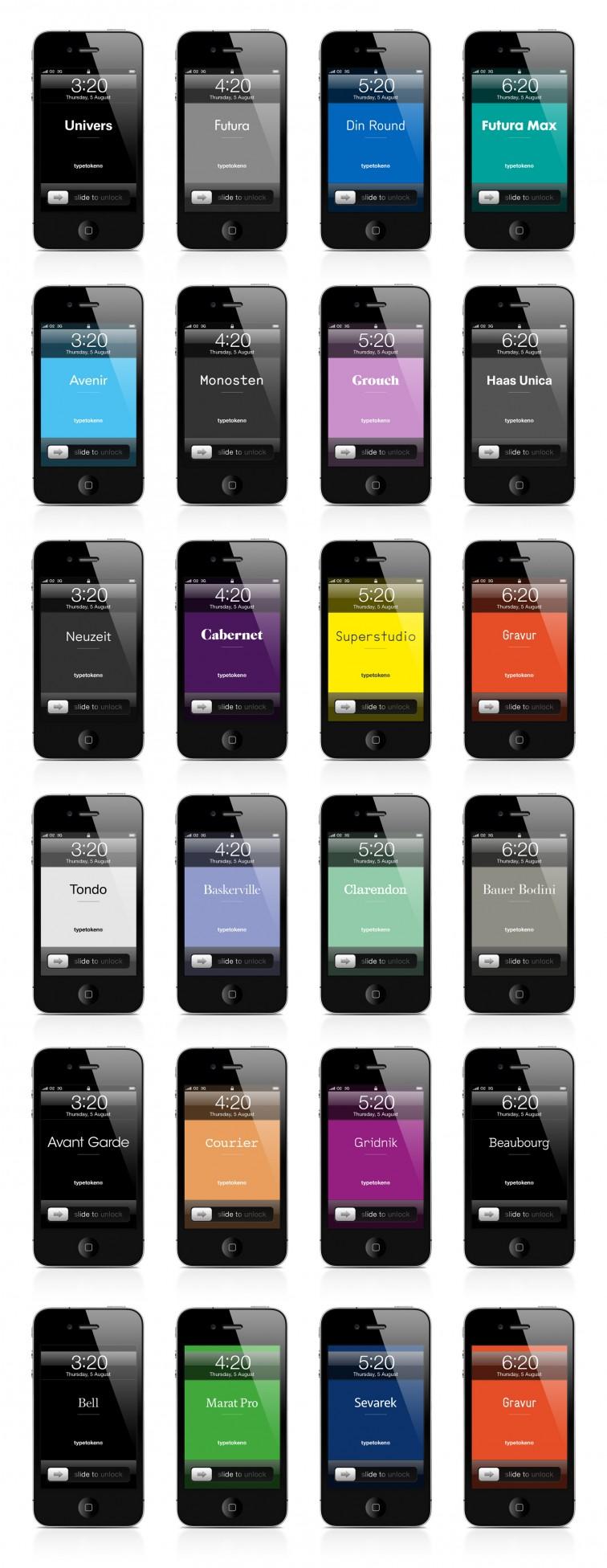 Typetoken® iPhone Lock Screens | typetoken®