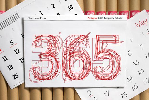 Pentagram 2010 Typographic Calendar Now Available   New at Pentagram   Pentagram