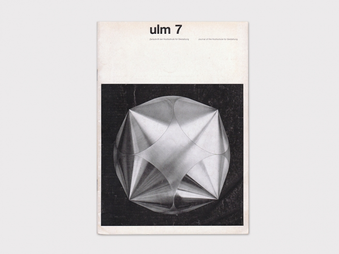 Display | Journal of the Hochschule fur Gestaltung ulm 7 | Collection