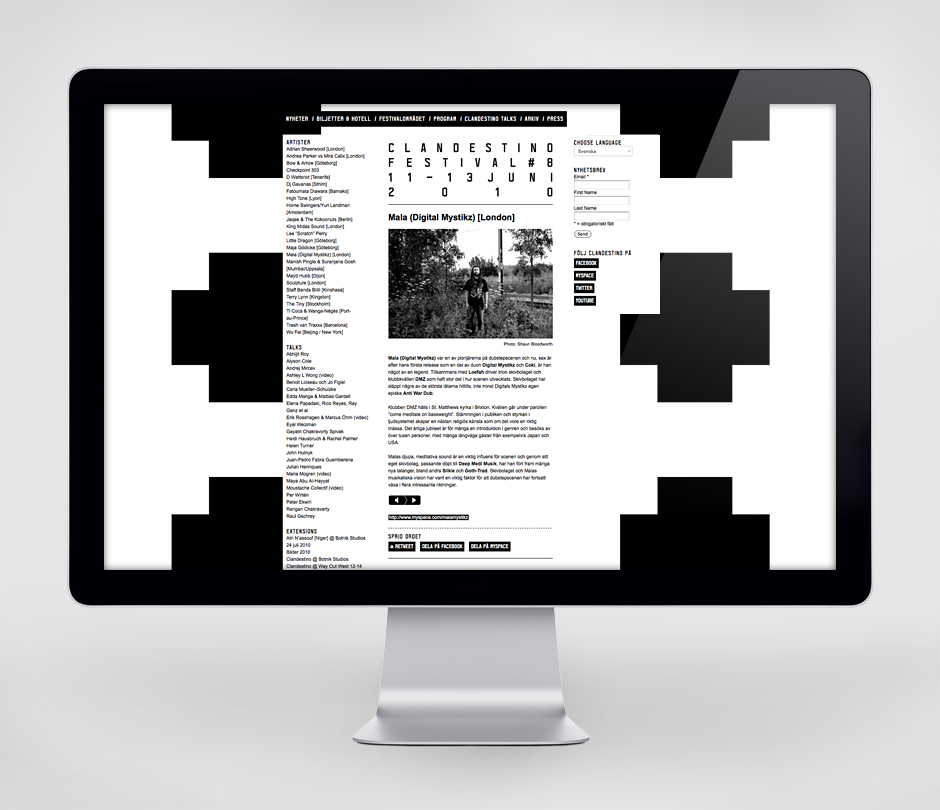 Clandestino Festival 2010 « Design Bureau – Lundgren+Lindqvist