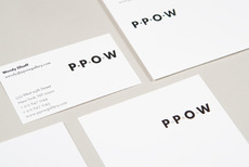 Project Projects — P·P·O·W identity and print materials