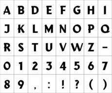 Typeface Cruiser : Anna Sartorius