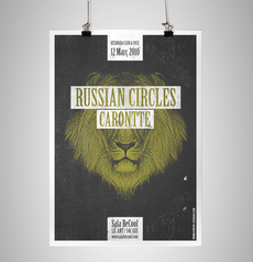 RUSSIAN CIRCLES poster on the Behance Network