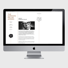 Gordon Millar Award - corporate and web design on the Behance Network
