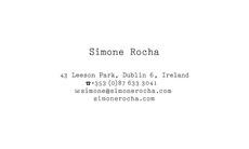 Simone Rocha | Conor Cronin