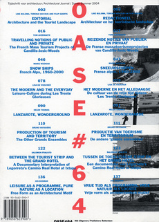 OASE 64 Landscape and Mass Tourism