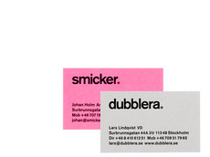 BVD Smicher Dubblera Identity program Logotype