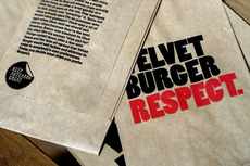 Velvet Burger. Brand Identity, Packaging Design, Signage Design, Wall Graphics. Everything Design. Auckland, New Zealand.