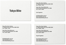 Tokyo Bike / Information cards : krafted by wing lau