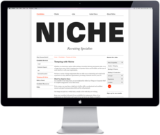 Niche Recruitment Brand Identity by Everything Design; a Branding & Graphic Design Company Auckland New Zealand. Everything Design.