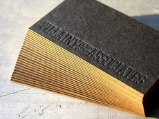 Villainy Black Business Card, Gold Edge « Beast Pieces