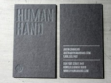 Human Hand Varnish On Black Business Card « Beast Pieces