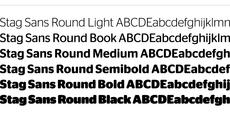 Stag Sans Round - Working Format