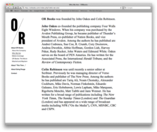 Project Projects — OR Books identity and website
