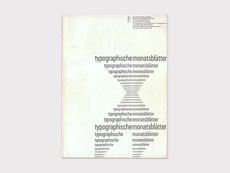 Display | Typographische Monatsblatter 1961 Number 5 June Emil Ruder | Collection