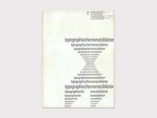 Display | Typographische Monatsblatter 1961 Number 5 June Emil Ruder | Collection