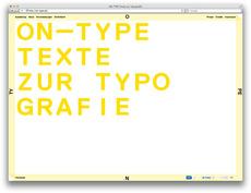Marcel Häusler Grafik » ON—TYPE: Texte zur Typografie Erscheinungsbild