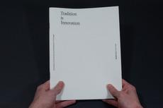 Tradition is Innovation Catalogue - João Machado