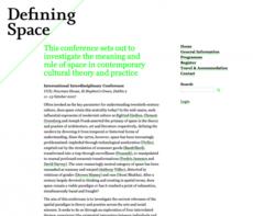 Conor & David - Defining Space