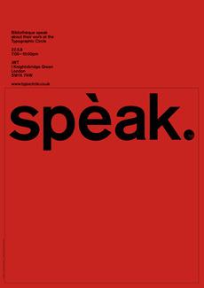 Spèak – Lecture Poster | Bibliothèque Design