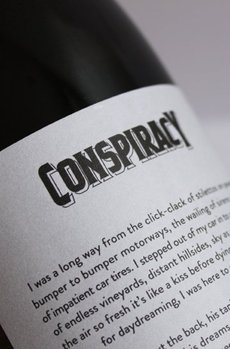 Bradley Rogerson Design Journal » Conspiracy Wines