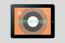 Bradley Rogerson Design Journal » Radiate Sound Website
