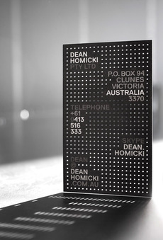 Dean Homicki business card | Design by Pidgeon