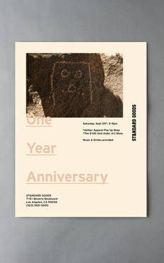 Public-Library » Projects » ST&NDARD GOODS One Year Anniversary