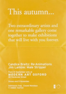 Modern Art Oxford 50:50 | 22. Candice Breitz / Jim Lambie