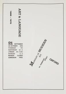 Modern Art Oxford 50:50 | 12. Art & Language