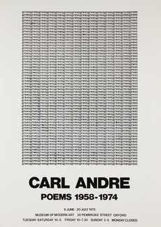Modern Art Oxford 50:50 | 10. Carl Andre