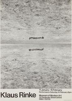 Modern Art Oxford 50:50 | 33. Klaus Rinke EX-HI-BI-TI-ON
