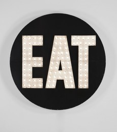 THE ELECTRIC EAT | Robert Indiana | Pre-eminent figure of American art and pioneer of assemblage art, hard-edge abstraction, and pop art