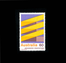 Item 139: Advanced Education stamp / James Meldrum / 1976 « Recollection