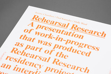 Rehearsal Research Poster and Program — Post Projects