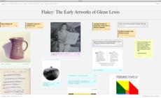 Flakey: The Early Artworks of Glenn Lewis