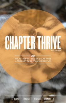 Chapter Thrive Gig Poster on the Behance Network