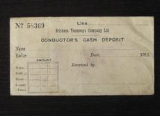 Brisbane Tram Conductor's Cash Deposit Envelope 1915 (eBay item 300528055540 end time 01-Mar-11 19:59:31 AEDST) : Collectables